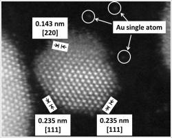 金微粒子の高分解能観察