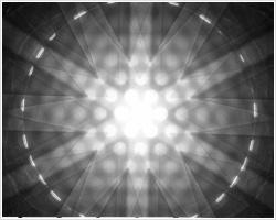 シリコン[111]電子回折図形